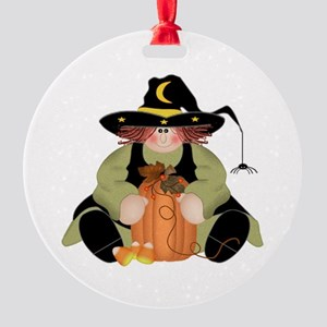 Spider Witch Round Ornament