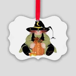 Spider Witch Picture Ornament