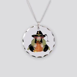 Spider Witch Necklace Circle Charm
