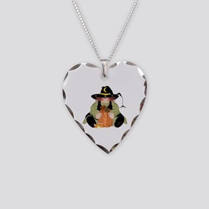Spider Witch Necklace Heart Charm