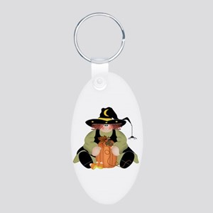 Spider Witch Aluminum Oval Keychain