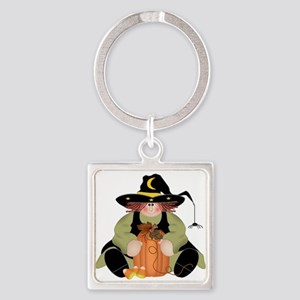 Spider Witch Square Keychain