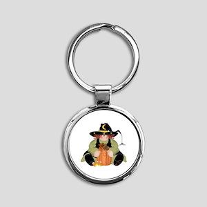 Spider Witch Round Keychain