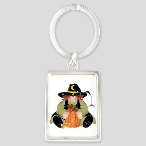 Spider Witch Portrait Keychain