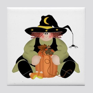 Spider Witch Tile Coaster