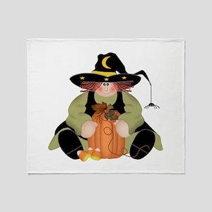 Spider Witch Throw Blanket