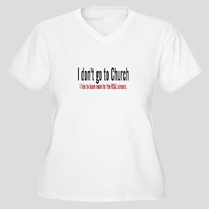 FREE THINKER Women's Plus Size V-Neck T-Shirt