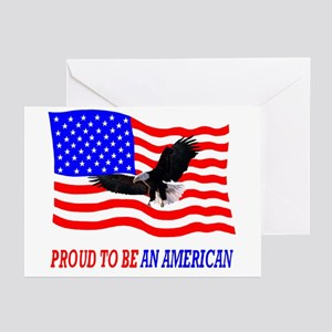 PROUD TO BE AN AMERICAN Greeting Cards (Package of