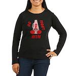 Red GO FIGHT WIN Women's Long Sleeve Dark T-Shirt