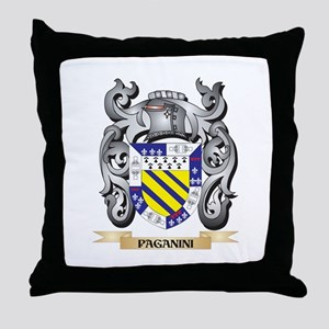 Paganini Coat of Arms - Family Crest Throw Pillow