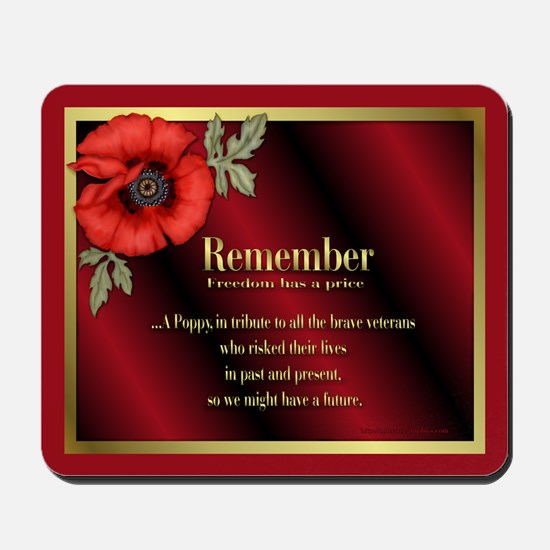Remember Poppy Mousepad