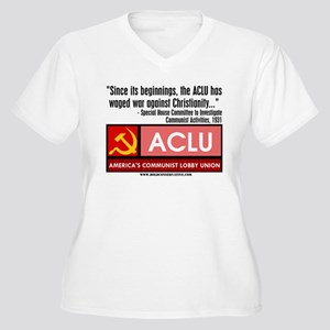 ACLU: War On Christ Women's Plus Size V-Neck T-Shi