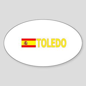 Toledo, Spain Oval Sticker