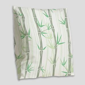 Bamboo Burlap Throw Pillow