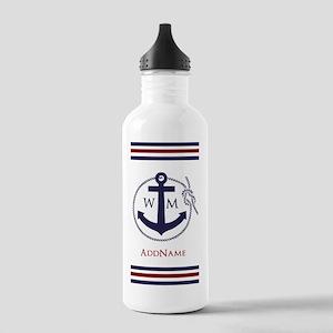 Anchor Nautical Monogram Water Bottle