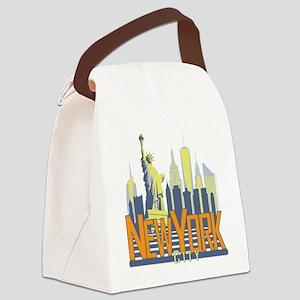 NYC Skyline Bold Canvas Lunch Bag