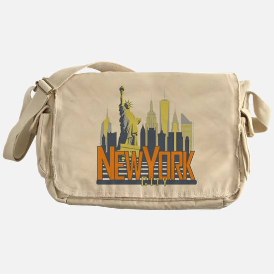 NYC Skyline Bold Messenger Bag