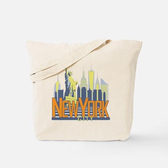 NYC Skyline Bold Tote Bag