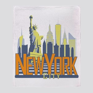 NYC Skyline Bold Throw Blanket