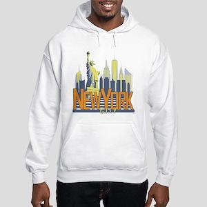 NYC Skyline Bold Hoodie