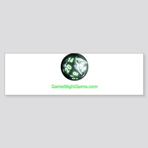 Game Night Gems D20 Bumper Sticker