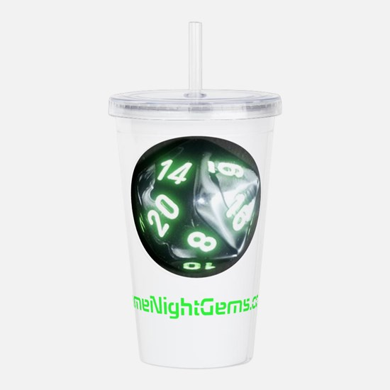 Game Night Gems D20 Acrylic Double-wall Tumbler