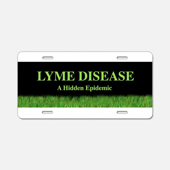 Cute Lyme disease Aluminum License Plate