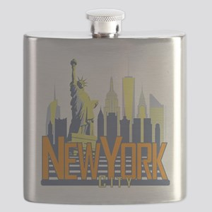 NYC Skyline Bold Flask