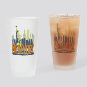 NYC Skyline Bold Drinking Glass