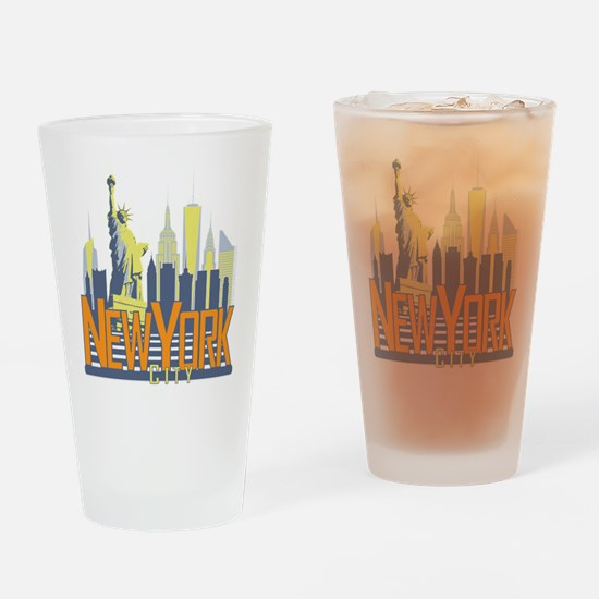 NYC Skyline Bold Drinking Glass