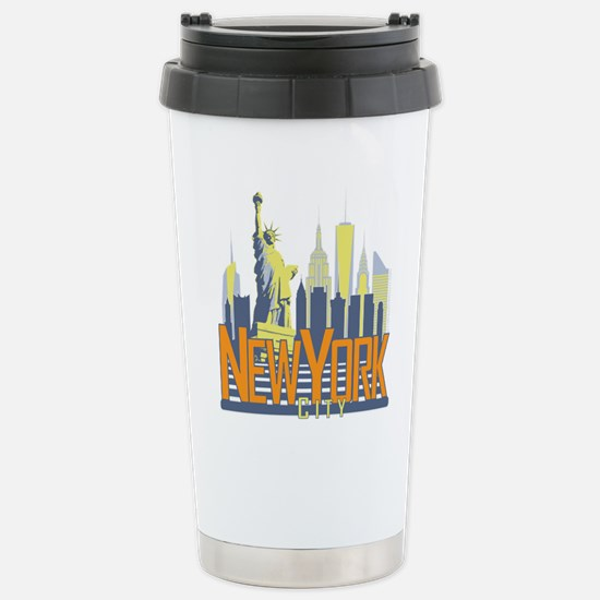 NYC Skyline Bold Travel Mug