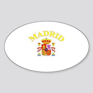 Madrid, Spain Oval Sticker