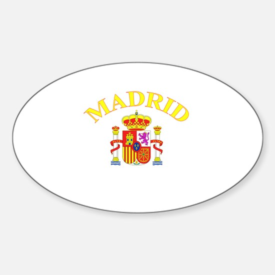 Madrid, Spain Oval Decal