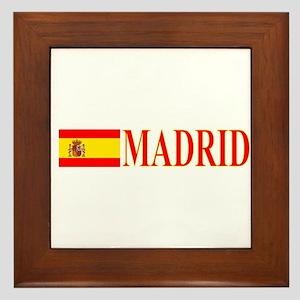 Madrid, Spain Framed Tile