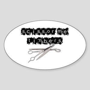 Scissor Me Timbers Oval Sticker