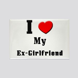 I Love Ex-Girlfriend Rectangle Magnet