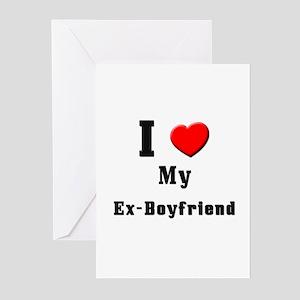 I Love Ex-Boyfriend Greeting Cards (Pk of 10)