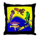 Yellow SubMorons Throw Pillow