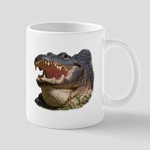 alligator with teeth showing Mugs