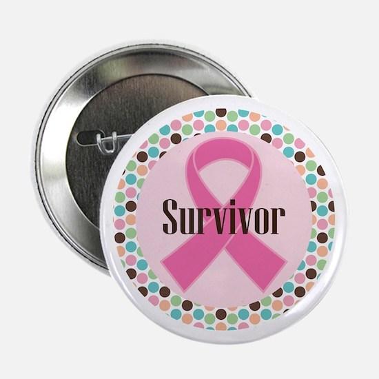 """Survivor Breast Cancer 2.25"""" Button"""