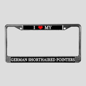 Love German Shorthairs License Plate Frame