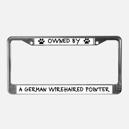 Owned by a German Wirehair License Plate Frame