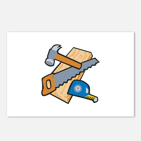 Carpenter Tools Postcards (Package of 8)
