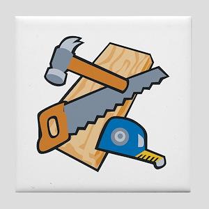 Carpenter Tools Tile Coaster