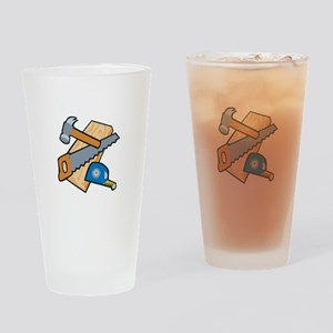 Carpenter Tools Drinking Glass