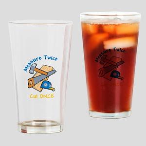 Measure Twice Drinking Glass