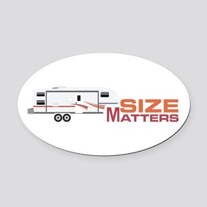Size Matters Oval Car Magnet