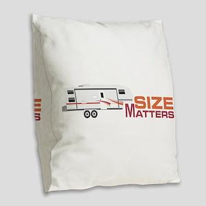 Size Matters Burlap Throw Pillow