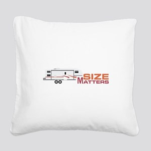 Size Matters Square Canvas Pillow