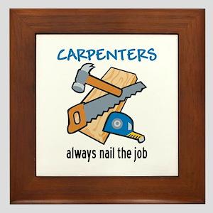 Nail the Job Framed Tile